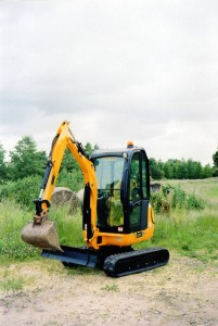 Digger hire available per day with man